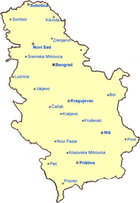 mapa Srbije
